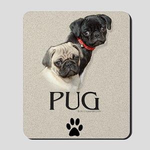 Two Pugs Mousepad