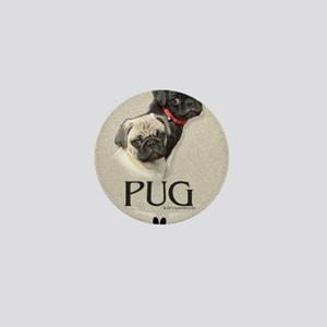 Two Pugs Mini Button