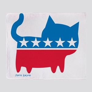 THE CAT PARTY Throw Blanket