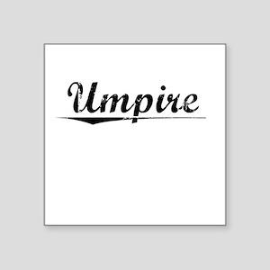 "Umpire, Vintage Square Sticker 3"" x 3"""