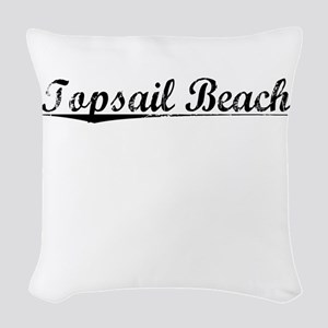 Topsail Beach, Vintage Woven Throw Pillow