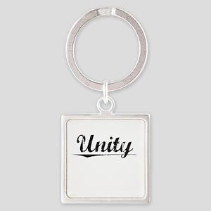 Unity, Vintage Square Keychain