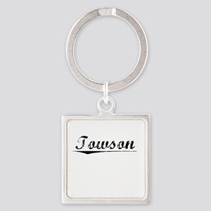 Towson, Vintage Square Keychain