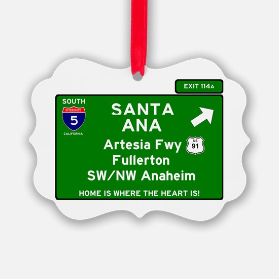 I5 INTERSTATE - CALIFORNIA - SANT Ornament