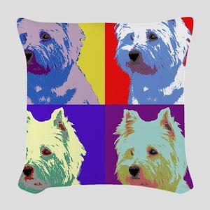Westie a la Warhol! Woven Throw Pillow