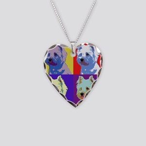 Westie a la Warhol! Necklace Heart Charm