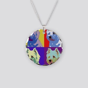 Westie a la Warhol! Necklace Circle Charm