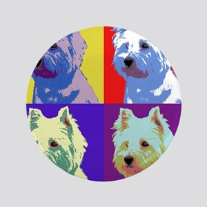 "Westie a la Warhol! 3.5"" Button"