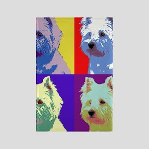 Westie a la Warhol! Rectangle Magnet