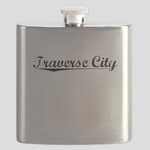 Traverse City, Vintage Flask