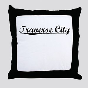 Traverse City, Vintage Throw Pillow
