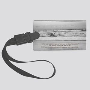 Eleanor Roosevelt Quote Large Luggage Tag