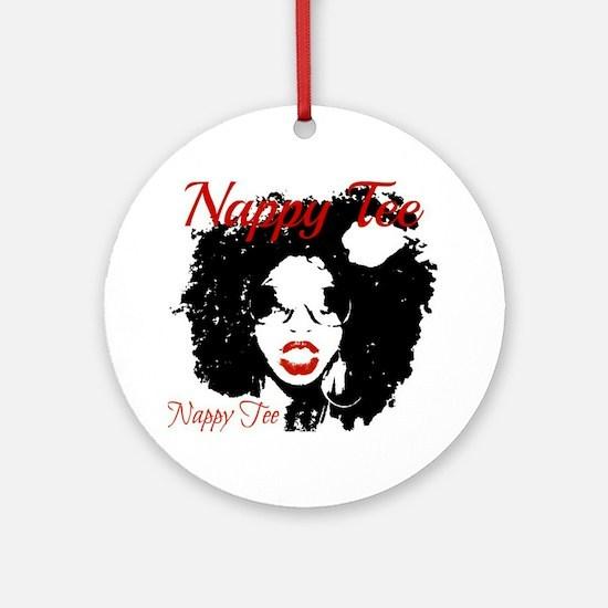 Nappy Tee Round Ornament