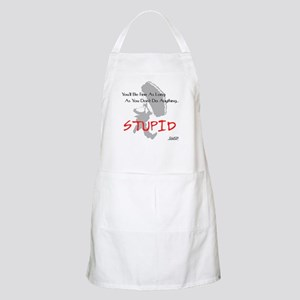 Don't Do Anything Stupid Skydiving BBQ Apron