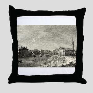 Al Dolo - Canaletto - 1746 Throw Pillow