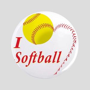 "i love softball 3.5"" Button"