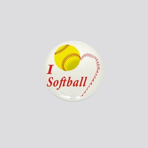 i love softball Mini Button