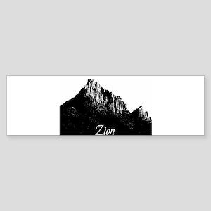 Zion Watchman B&W Bumper Sticker