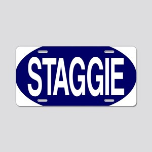 Staggie Nvy for Wh Aluminum License Plate