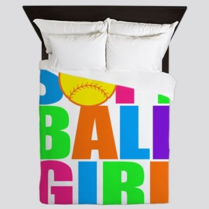 softball girl Queen Duvet