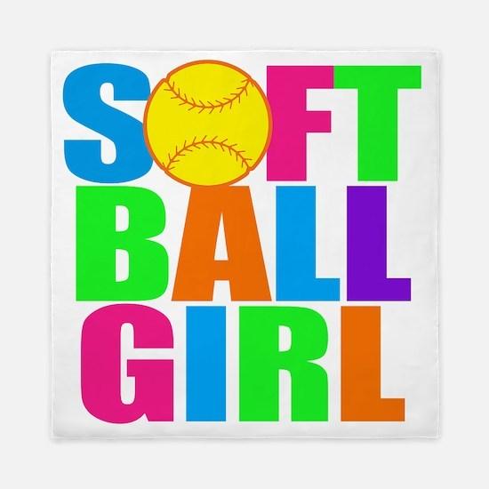softball girl Queen Duvet