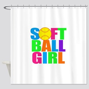Softball Girl Shower Curtain