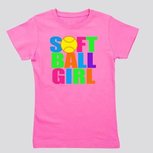 softball girl Girl's Tee