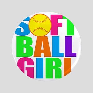 """softball girl 3.5"""" Button"""