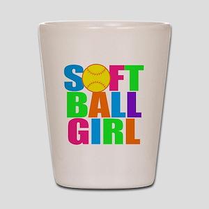 softball girl Shot Glass