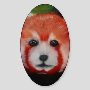 Red Panda Pastel Piece Sticker (Oval)