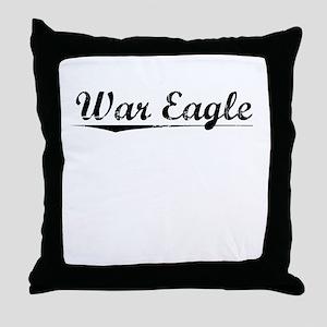 War Eagle, Vintage Throw Pillow