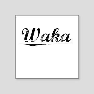 "Waka, Vintage Square Sticker 3"" x 3"""