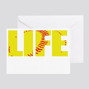 life begins(blk) Greeting Card