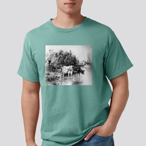Cattle fording a river - Peter Moran - c1890 Mens