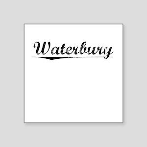 "Waterbury, Vintage Square Sticker 3"" x 3"""