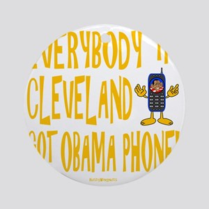Obama Phone Round Ornament