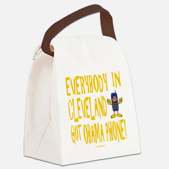 Obama Phone Canvas Lunch Bag