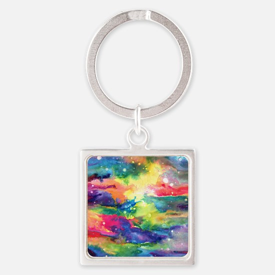 Cosmos Puzzle Square Keychain