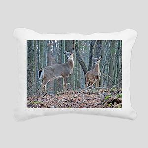 Doe with fawn Rectangular Canvas Pillow