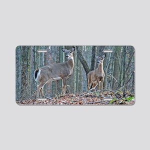 Doe with fawn Aluminum License Plate