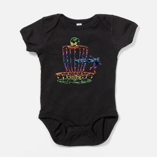 Disc Golf Basket Art Baby Bodysuit