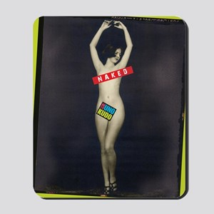 naked cover rotated Mousepad
