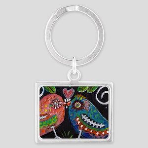 lovebirds Landscape Keychain