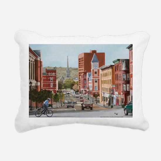 East Main Print Rectangular Canvas Pillow