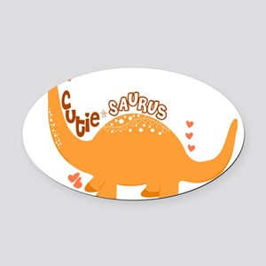 Cutie-Saurus Dinosaur  Oval Car Magnet