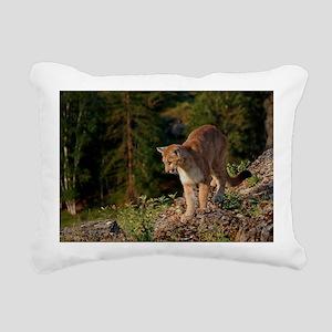 Cougar 1 Rectangular Canvas Pillow