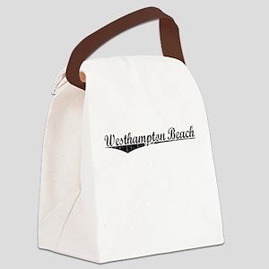 Westhampton Beach, Vintage Canvas Lunch Bag
