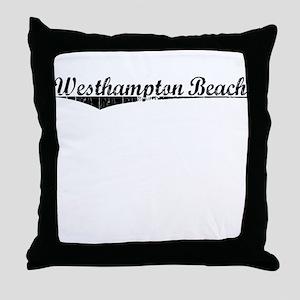 Westhampton Beach, Vintage Throw Pillow