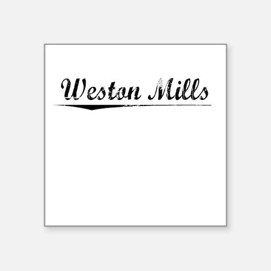 """Weston Mills, Vintage Square Sticker 3"""" x 3"""""""