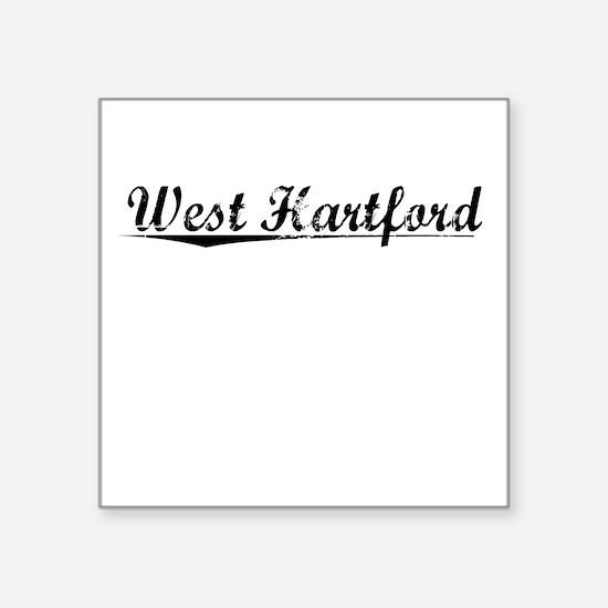 "West Hartford, Vintage Square Sticker 3"" x 3"""